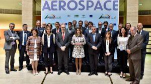 Inauguración del congreso aeroespacial ADM en Fibes /Junta