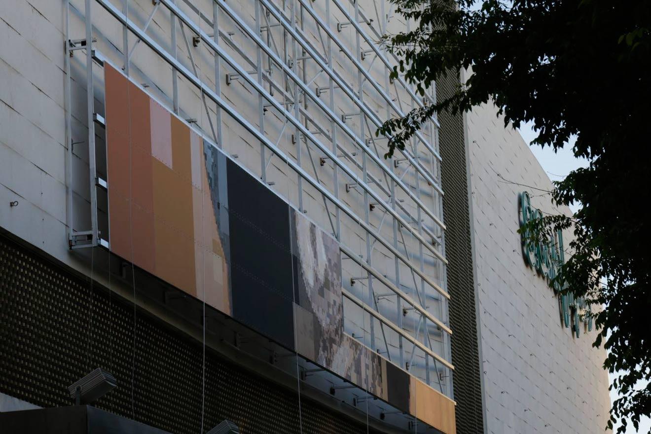 Instalación del mural de Pinta tu Murillo /SA