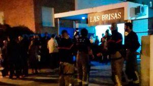 Bomberos del Aljarafe en el Bloque afectado en 2016 / Twitter Bomberos Aljarafe
