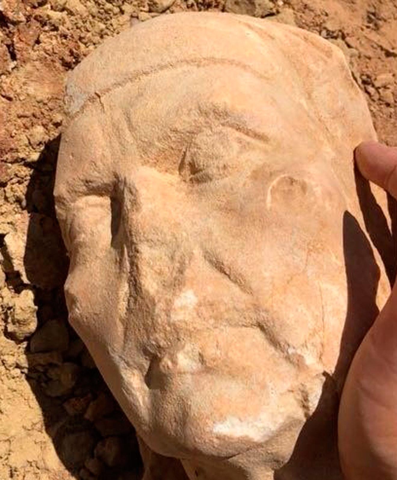 El busto encontrado por India Martínez mientras hacía deporte /India Martínez