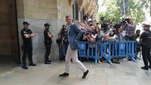 Urdangarin a su llegada a la Audiencia de Palma /Cedida