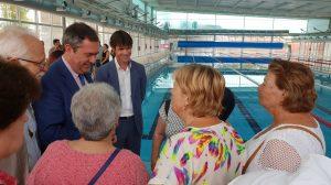 Espadas inaugura la piscina del Tiro de Línea /Ayto. Sevilla