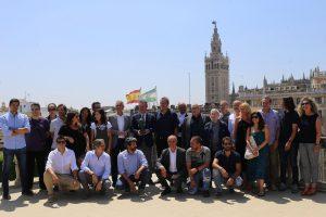 Foto familia anuncio Premios Goya en Sevilla /Ayto. Sevilla