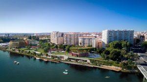 Zona de Los Remedios junto al río dónde se ubicará el 'Jardín de Las Cigarreras' /Nuum Consulting