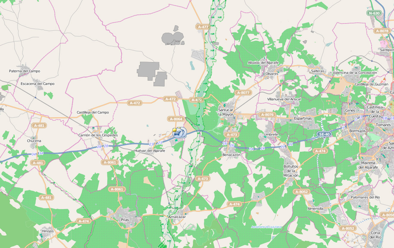 Mapa de incidencias de la DGT /SA