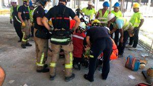 Rescate del obrero / @EmergenciasSev