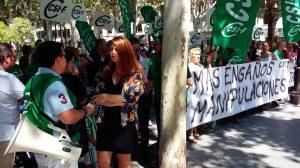 Nueva concentración de opositores de Tussam /Participa Sevilla