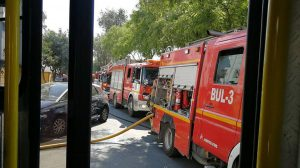 Incendio calle Corvina / @EmergenciasSev