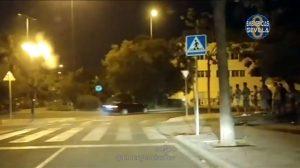 Carreras nocturnas ilegales de coches /Ayto. Sevilla
