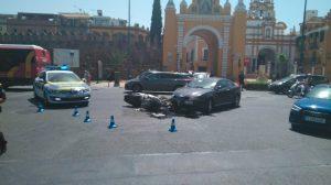 Motorista lesionado /@EmergenciasSev
