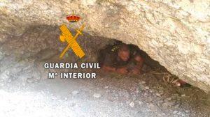Rescate en una cueva en Mijas /Guardia Civil