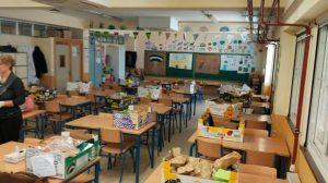 El aula que funciona como comedor en el Joaquín Turina /Cedida
