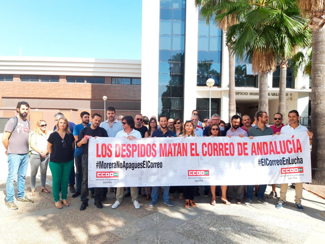 Concentración contra el cierre de El Correo de Andalucía /CCOO