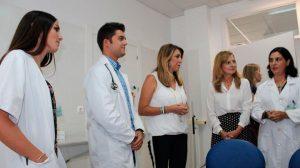 Díaz en el centro de salud de La Garrucha /Junta
