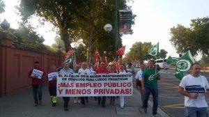 Protesta de la plantilla de mantenimiento de colegios /CCOO