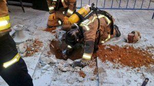 Deflagración en la calle Arfe /@EmergenciasSev