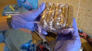 La droga incautada en Isla Cristina /Guardia Civil