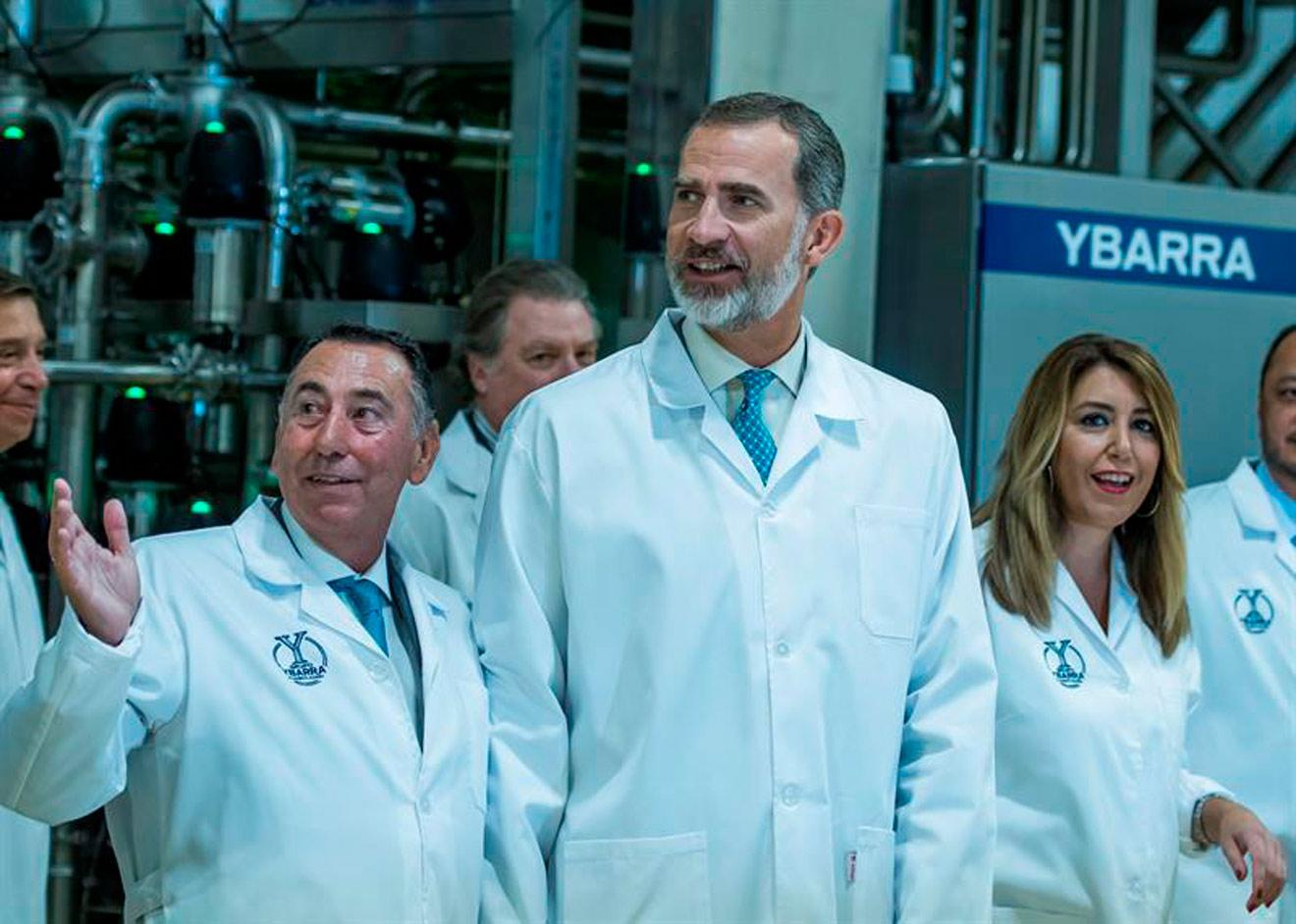 El rey Felipe VI inaugura la nueva fábrica de Ybarra en Dos Hermanas /Cedida
