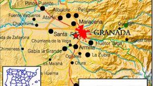 Mapas de terremotos en Granada /@E112Andalucia