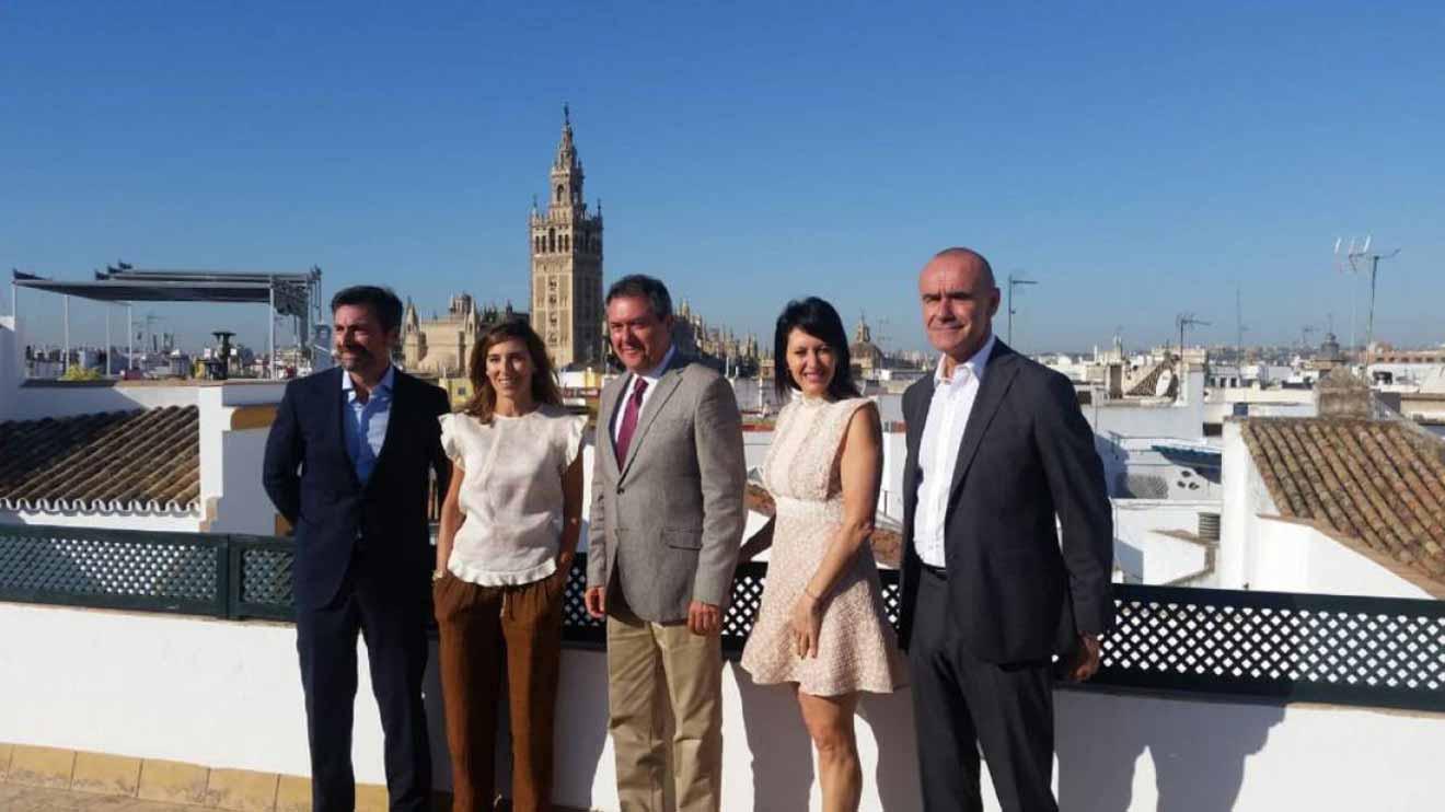Presentación de la iniciativa turística, esta mañana en el Palacio Mármoles /SA
