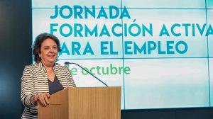 Delegada de Economía, Comercio y Relaciones Institucionales, Carmen Castreño, en la presentación / Ayuntamiento de Sevilla